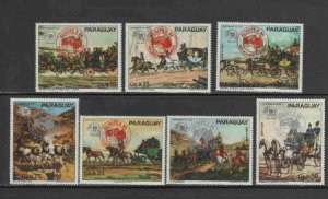 PARAGUAY #2127a-g 1984 AUSIPEX '84 MINT VF NH O.G