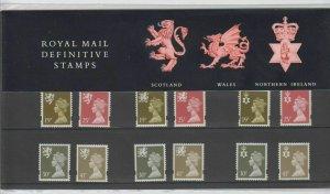 1993 Scotland/Wales/NI Regional Definitive Pack no.31 Presentation pack