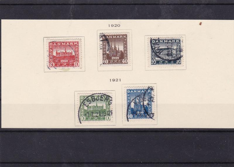 denmark 1920 used stamps  ref 7625