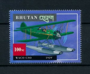 [101628] Bhutan 2000 Aviation aircraft WACO CSO From sheet MNH