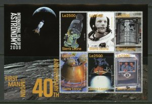 LESOTHO 40th ANNIVERSARY FIRST MOON LANDING NEIL ARMSTRONG SHEET MINT NH