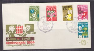 NETHERLANDS, 1964 Child Welfare set of 5 on First Day cover.