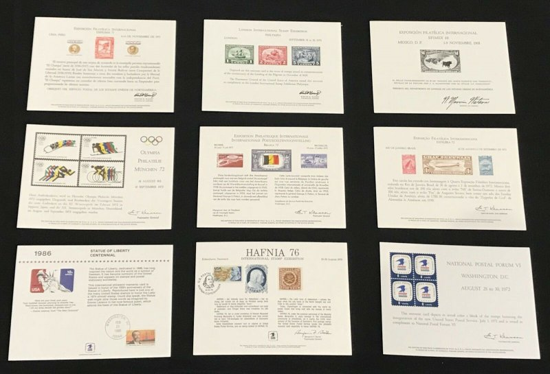 US USPS Souvenir Cards Mixed Lot of 19 Some W/Cancels
