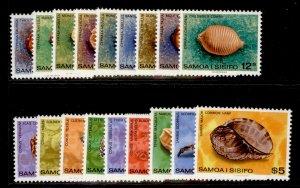 SAMOA QEII SG516-530, 1978 shells set, NH MINT.