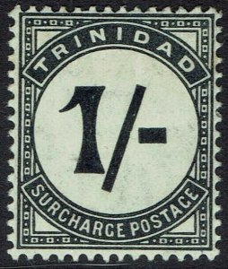 TRINIDAD 1905 POSTAGE DUE 1/- WMK MULTI CROWN CA