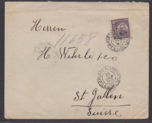 *Brazil Cover #182 Ship Cover to Switzerland, Backstamped