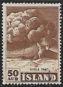 Iceland # 249 - Hekla Vulcano Erruption - used....{GBl)