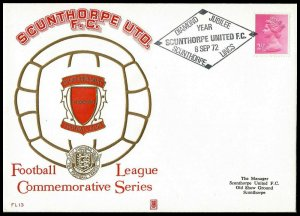 1972 Scunthorpe United FC Diamond Anniversary Year Commemorative First day Cover