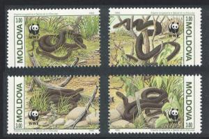 Moldova Protected Animals Snakes WWF 4v SG#57-60 SC#72
