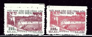 North Vietnam 48-49 No Gum as Issued 1956-58 issues    (ap3044)