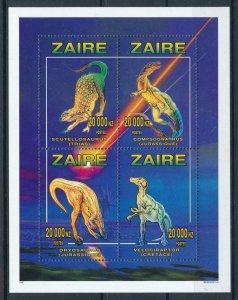 [106231] Zaire 1996 Prehistoric animals dinosaurs Perf. Sheet MNH