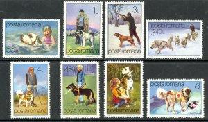 ROMANIA 1982 DOGS Set Sc 3060-3067 MNH