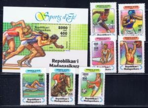 Malagasy 1264-71 NH 1993 Sports set