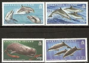 Ascension MNH 966-9 Whales & Dolphins 2009