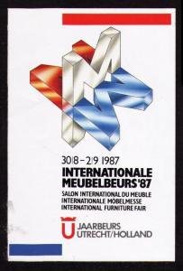 POSTER LABEL INTERNATIONAL FURNITURE FAIR 87 NETHERLAND 30/8-2 1987 CINDERELLA