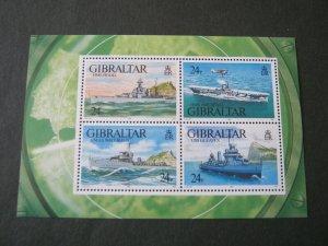 1993   GIBRALTAR  -  SG. MS 694 - WARSHIPS (1) -  UNMOUNTED MINT
