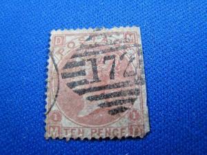 GREAT BRITAIN  -  SCOTT #53  -  Used      (brig)
