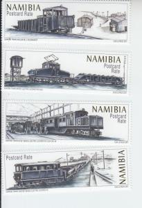 2017 Namibia Diamond Trains (4)  (Scott 1353-56) mnh