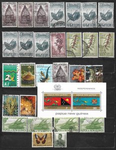 COLLECTION LOT OF 28 + 1 SS PAPUA & NEW GUINEA 1952+ CLEARANCE