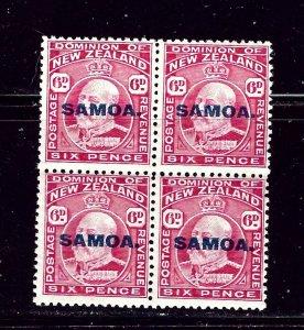 Samoa 118 MNH 1914 Block of 4