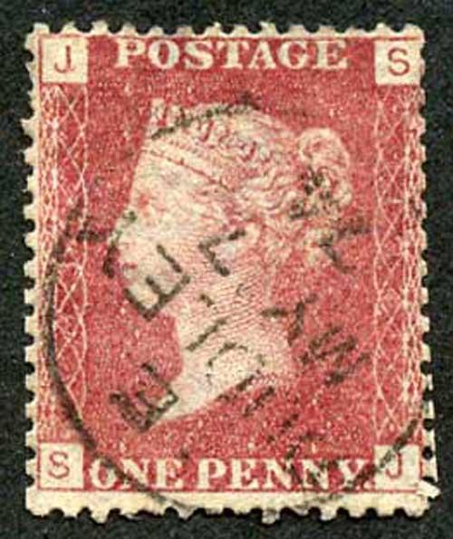 SG43 Penny Plate 134 (SJ) CDS used