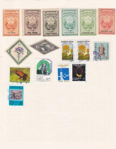 costa rica mounted mint and used stamps ref 13102