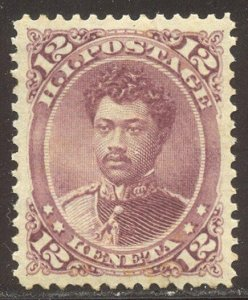 HAWAII #46 CHOICE Mint XF/SUP NH - 1882 12c Red Lilac