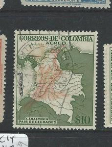 ``COLOMBIA (PP2609B) A/M MAP 10P  SC 253  VFU