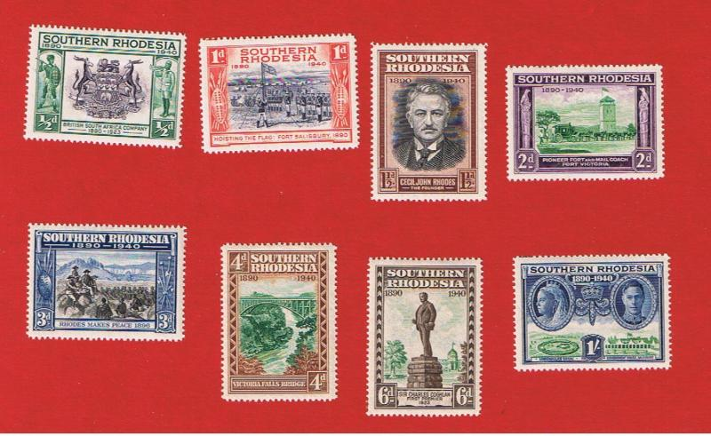 Sorthern Rhodesia #56-63 MVFH OG 50th Anniversary  Free S/H