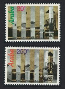 Aruba Bicentenary of Fort Zoutman 2v SG#219-220