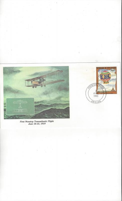 Ivory Coast.  Fleetwood Cachet of Man's Conquest of the Heavens 1983 FDC