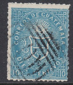 GUATEMALA  An old forgery of a classic stamp................................D485