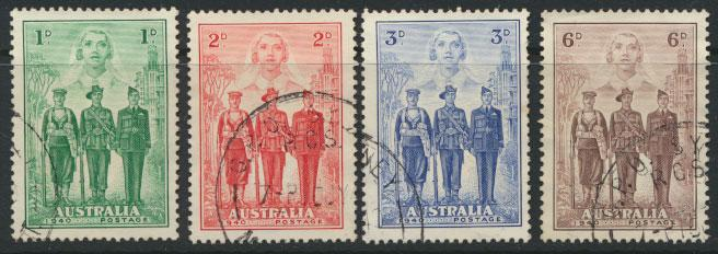 SG 196-199 Used  Australian Imperial Forces  SPECIAL - please read details