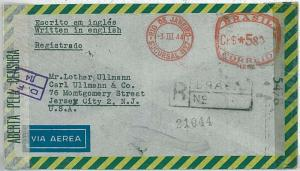 POSTAL HISTORY: BRAZIL - AIRMAIL COVER to USA 1944 CENSORED - AUTOMATIC POSTMARK