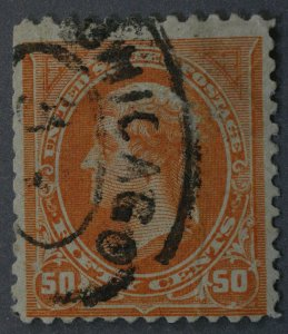 United States #260 50 Cent Jefferson Used w/ Minor Flaws