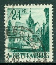 Germany - French Occupation - Wurttemberg - Scott 8N22