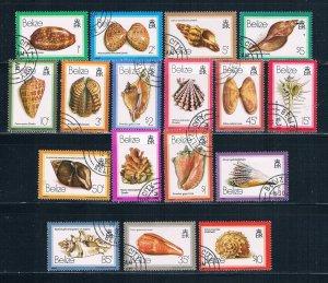Belize 471-87 Used set Sea Shells 1980 (HV0102)