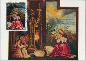 59097  -  DAHOMEY - POSTAL HISTORY: MAXIMUM CARD 1967   -  ART Religion