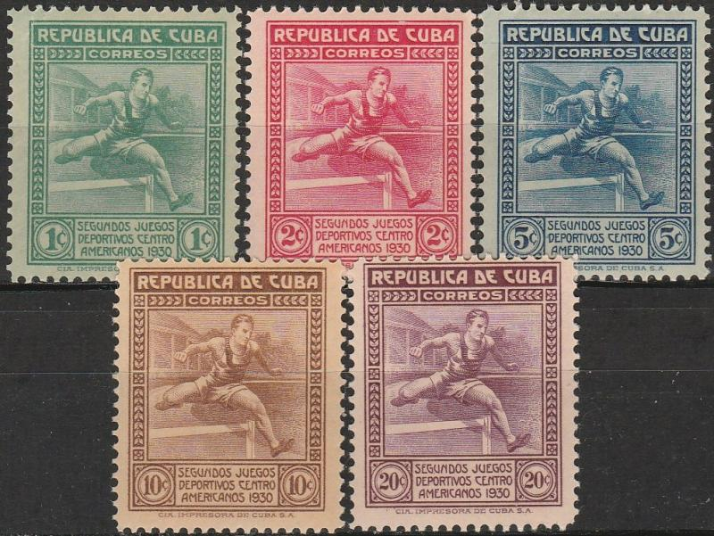 Cuba #299-303 F-VF Unused CV $32.50 (A17442)