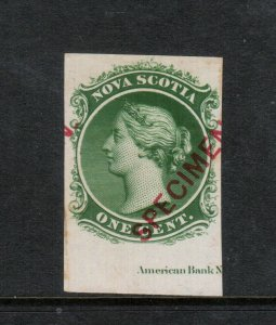 Nova Scotia #8TCvii Very Fine Proof In Green With ABN Imprint