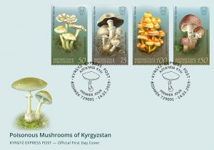 Stamps of Kyrgyzstan 2019. - First Day Cover.  F058. Poisonous Mushrooms of Kyrg