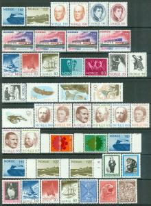 NORWAY : Clean group of all Very Fine, Mint NH singles & sets. Catalog $250+