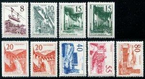 HERRICKSTAMP YUGOSLAVIA Sc.# 555-62 Key Coils & Set Mint NH