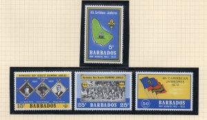 Barbados Sc 372-75 1972 Boy Scouts  stamp set mint NH
