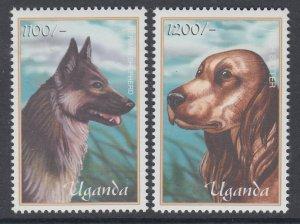 Uganda 1720-1721 Dogs MNH VF