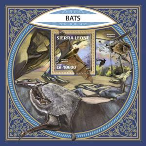 Sierra Leone 2017 MNH Bats Bat 1v S/S Flying Mammals Wild Animals Stamps