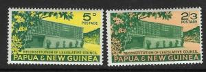 PAPUA NEW GUINEA SG26/7 1961 RECONSTITUTION OF LEGISLATIVE COUNCIL MNH