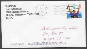 2003 - 80 cents Special Olympics, Duluth MN (30 May) to Birzai, Lithuania