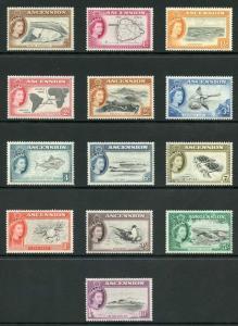 Ascension SG57/69 1956 Set of 13 Fresh U/Mint