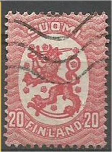 FINLAND,  1920, used 20p, Arms Scott 89